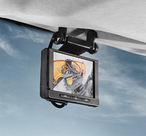 Čelní kamera s monitorem